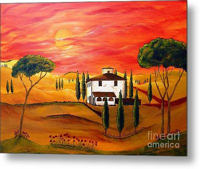 The Heat Of Tuscany Metal Print by Christine Huwer