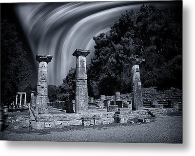 Metal Print featuring the photograph The Heraion Of Ancient Olympia by Micah Goff