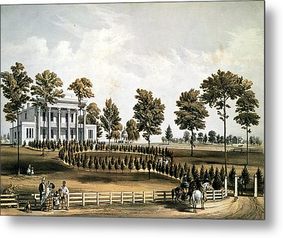 The Hermitage, Jacksons Tomb And Andrew J. Donelsons Residence, 12 Miles From Nashville Tennessee Metal Print by American School