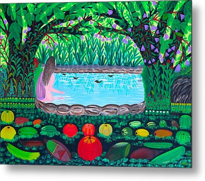 Metal Print featuring the painting The Hidden Water by Lorna Maza