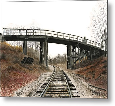 Metal Print featuring the painting The High Bridge by Ferrel Cordle