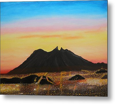 The Hill Of Saddle Monterrey Mexico Metal Print by Jorge Cristopulos