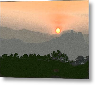The Hills Of Aragon Metal Print by Dennis Buckman