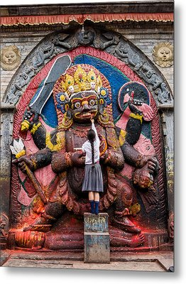 The Hindu God Shiva Metal Print by Nila Newsom