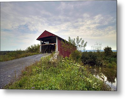 Metal Print featuring the photograph The Historic Hayes Covered Bridge by Gene Walls