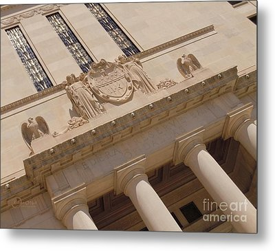 Metal Print featuring the photograph The Historical Federal Reserve Bank Of Dallas by Robert ONeil