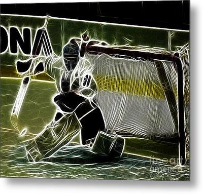 The Hockey Goalie Metal Print by Bob Christopher