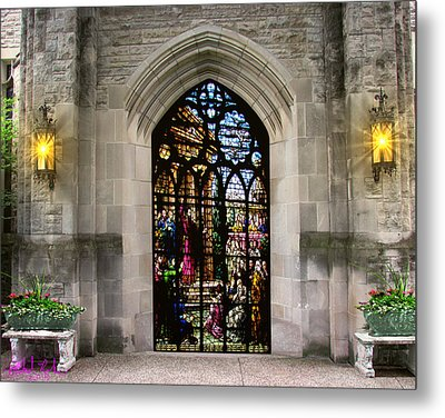 The Holy Door Metal Print by Michael Rucker