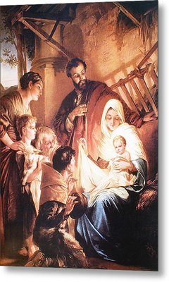 The Holy Family Metal Print by Unknown