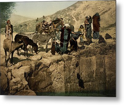 The Holy Land Circa 1890 Metal Print by Aged Pixel
