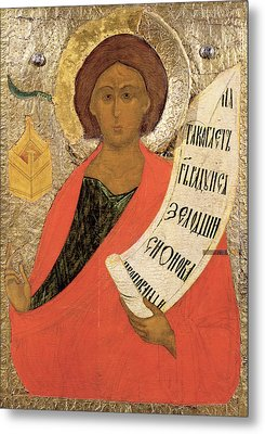 The Holy Prophet Zacharias Metal Print by Novgorod School