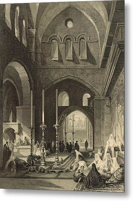 The Holy Sepulchre 1886 Engraving Metal Print by Antique Engravings