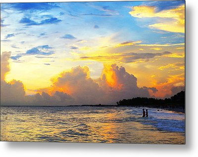 The Honeymoon Tropical Landscape By Sharon Cummings Metal Print by William Patrick