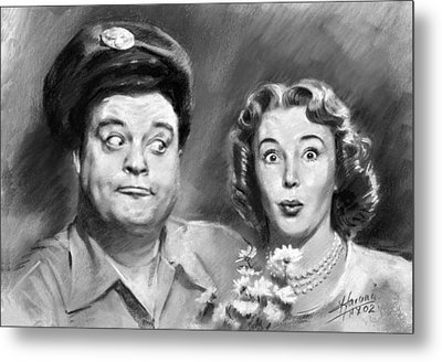 The Honeymooners Metal Print by Viola El