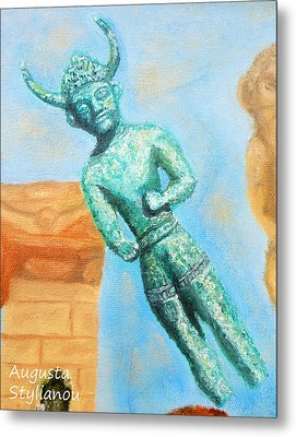 The Horned God From Egkomi .  Metal Print by Augusta Stylianou