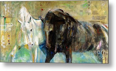 The Horse As Art Metal Print by Frances Marino