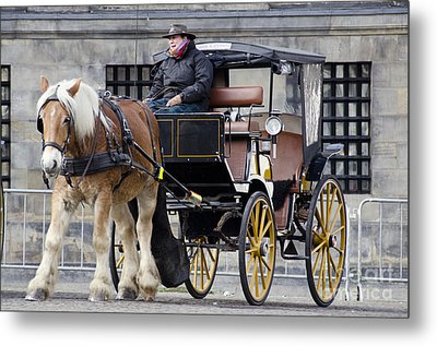 The Horse Buggy Metal Print by Pravine Chester