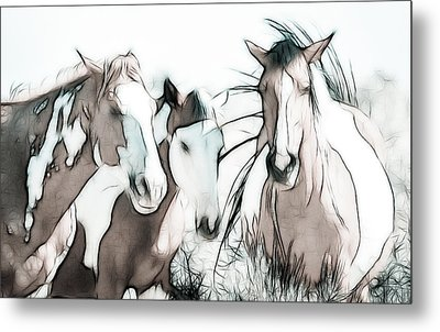 The Horse Club Metal Print