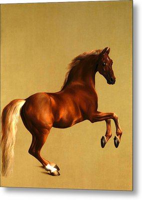 Metal Print featuring the digital art The Horse by George Stubbs