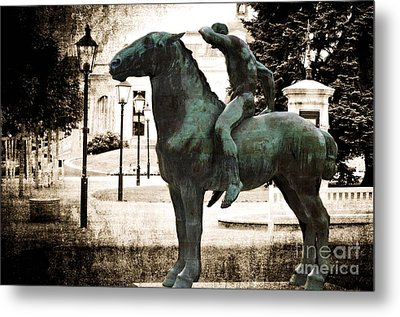 The Horseman Metal Print by Mary Machare