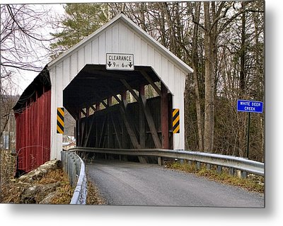 Metal Print featuring the photograph The Horsham Covered Bridge by Gene Walls