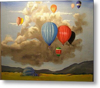 The Hot Air Balloon Metal Print