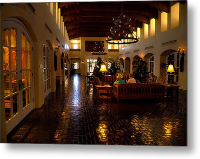 The Hotel Albuquerque Lobby Metal Print by David Patterson