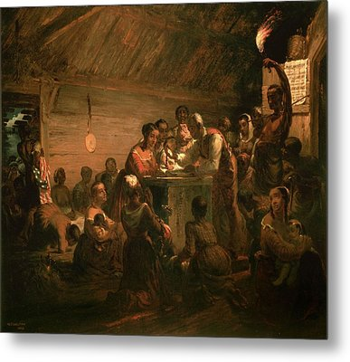 The Hour Of Emancipation, 1863 Oil On Canvas Metal Print