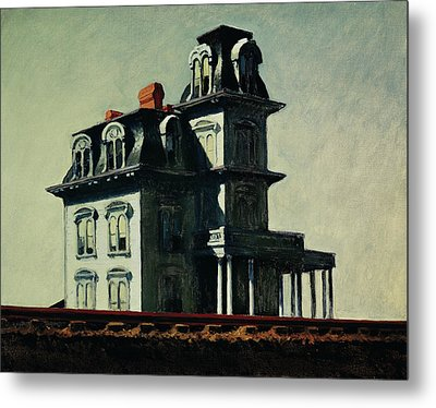The House By The Railroad Metal Print