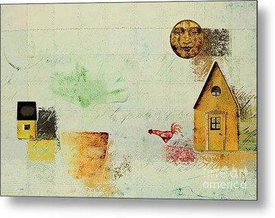 The House Next Door - C04a Metal Print by Variance Collections
