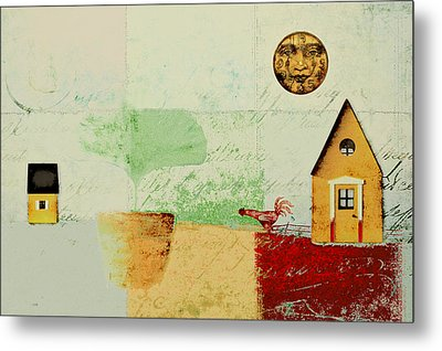 The House Next Door - J191206097-c4f1 Metal Print by Variance Collections