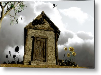 The House Of Light And Shadow Metal Print by Cynthia Decker