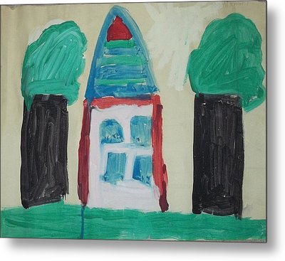 The House With No Door-age 5 Metal Print by MIchael Kelly