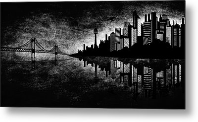The Hubris Of Mankind Bw Metal Print by Angelina Vick