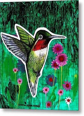 The Hummingbird Metal Print by Genevieve Esson