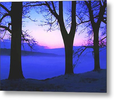 Metal Print featuring the painting The Hush At First Light by Sophia Schmierer
