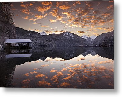 The Hut By The Lake Metal Print by Jorge Maia