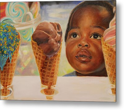 The Ice Cream Shop Metal Print