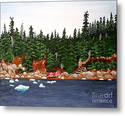 The Ice Took It Metal Print by Barbara Griffin