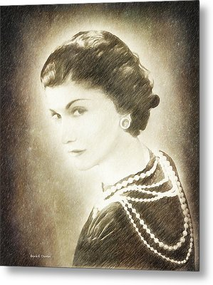 The Icon Of Elegance Metal Print by Angela A Stanton