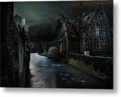 The Icy Corner Metal Print