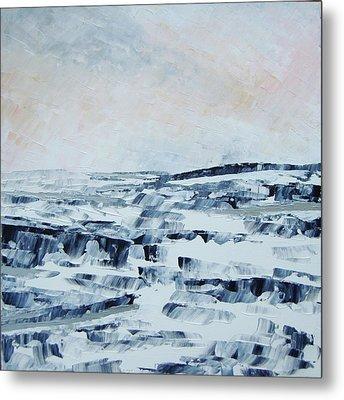 The Idle Rocks Metal Print by Sally Kelly