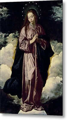 The Immaculate Conception Metal Print by Diego Rodriguez de Silva y Velazquez