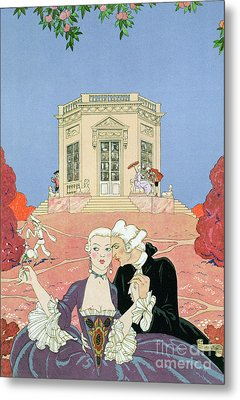 The Indolents Metal Print by Georges Barbier