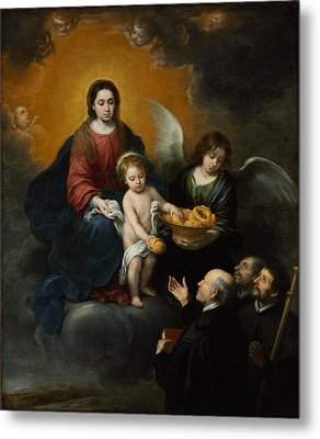 The Infant Christ Distributing Bread To The Pilgrims Metal Print by Bartolome Esteban Murillo