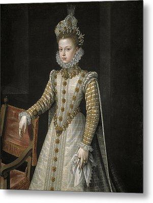 The Infanta Isabel Clara Eugenia Metal Print by Alonso Sanchez Coello