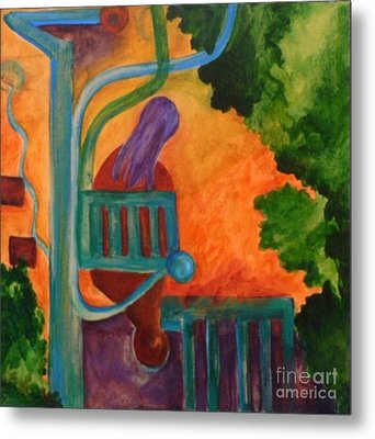 Metal Print featuring the painting The Inspiration- Caprian Beauty Series 2 by Elizabeth Fontaine-Barr
