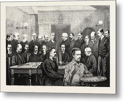 The International Chess Congress Some Of The Chief Members Metal Print by English School