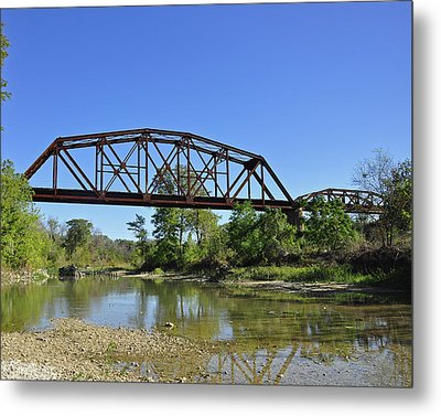 The Iron Bridge Metal Print by Cherie Haines