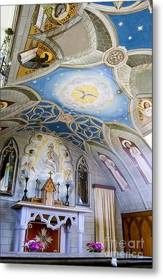 The Italian Chapel Mural Orkney Metal Print by Tim Gainey